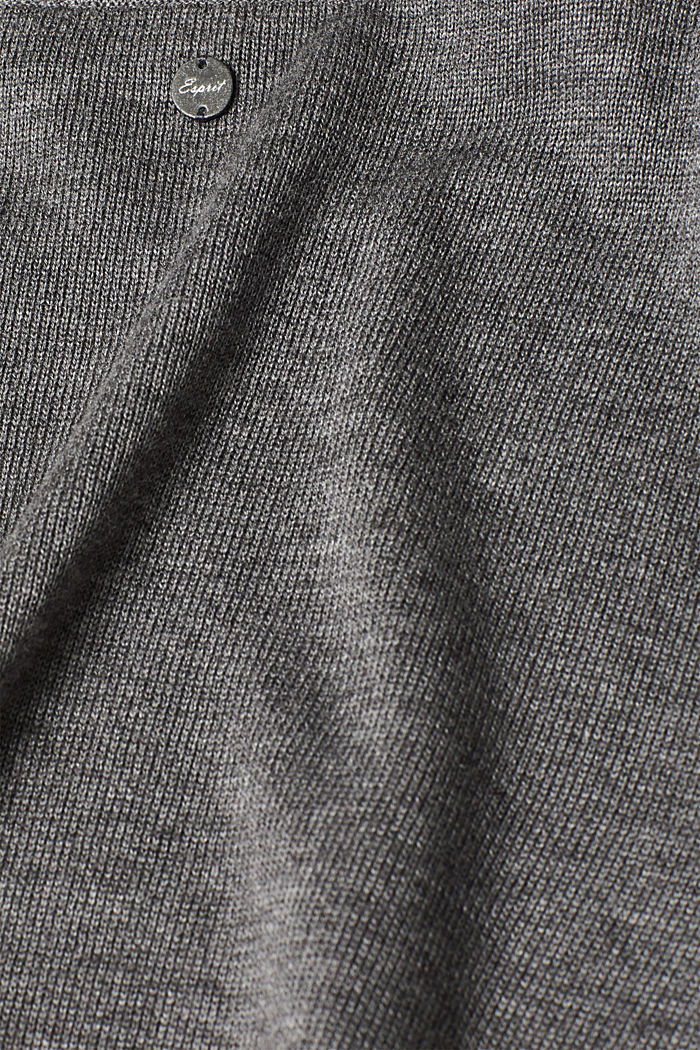 Fine knit dress with organic cotton, DARK GREY, detail image number 3