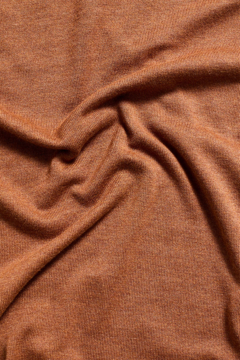 Fine knit dress with organic cotton, CARAMEL 5, detail image number 4