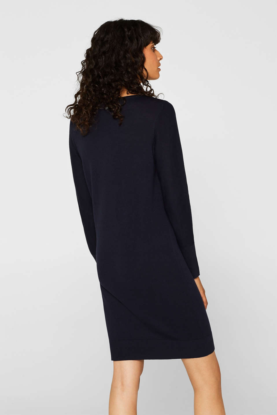 Fine knit dress with organic cotton, NAVY, detail image number 2
