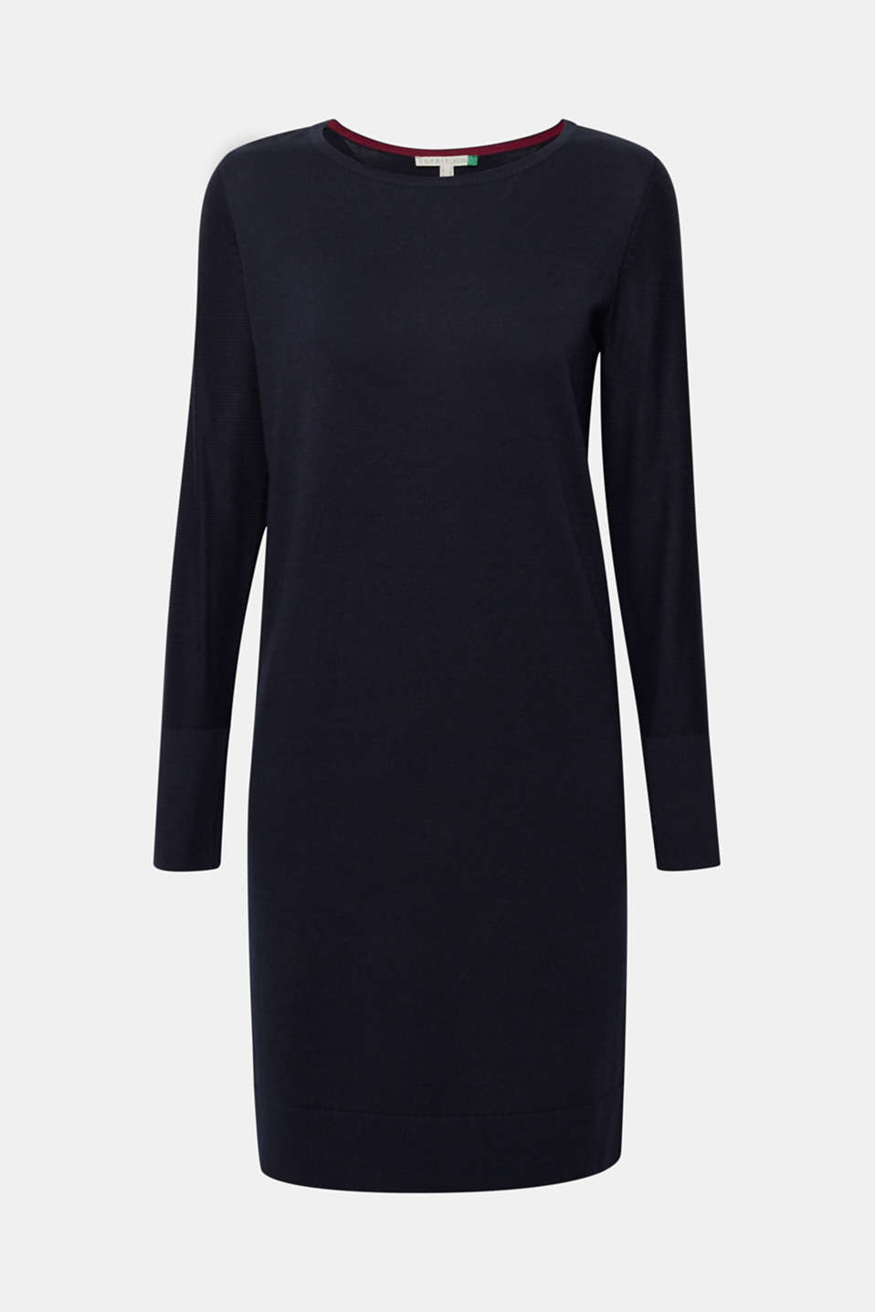 Fine knit dress with organic cotton, NAVY, detail image number 5