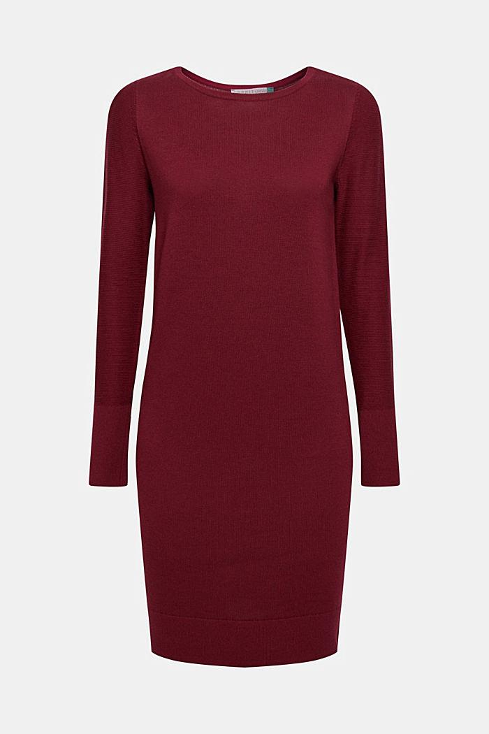 Fine knit dress with organic cotton