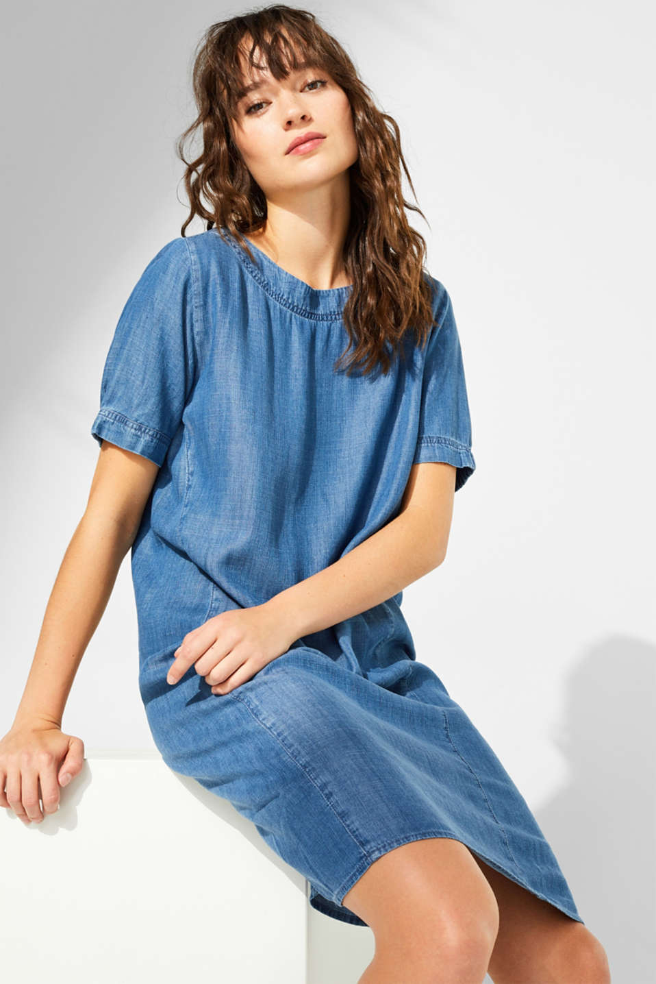 Esprit - Aus TENCEL™: Kleid im Denim-Look