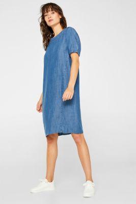 Made of TENCEL™: Denim-effect dress, BLUE MEDIUM WASH, detail