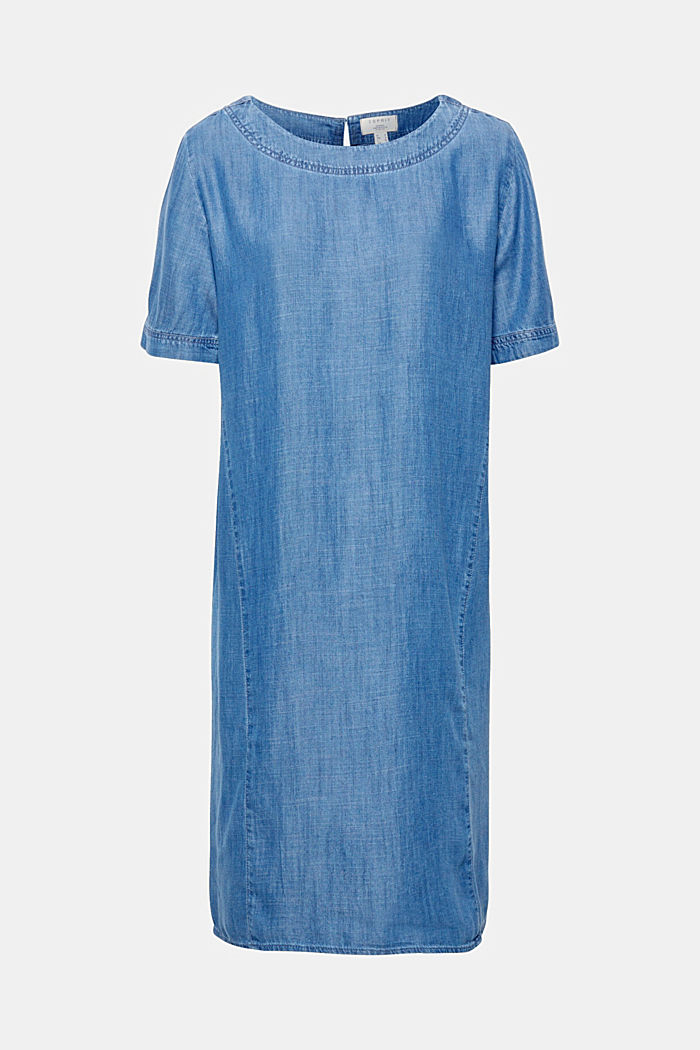 Made of TENCEL™: Denim-effect dress, BLUE MEDIUM WASHED, overview
