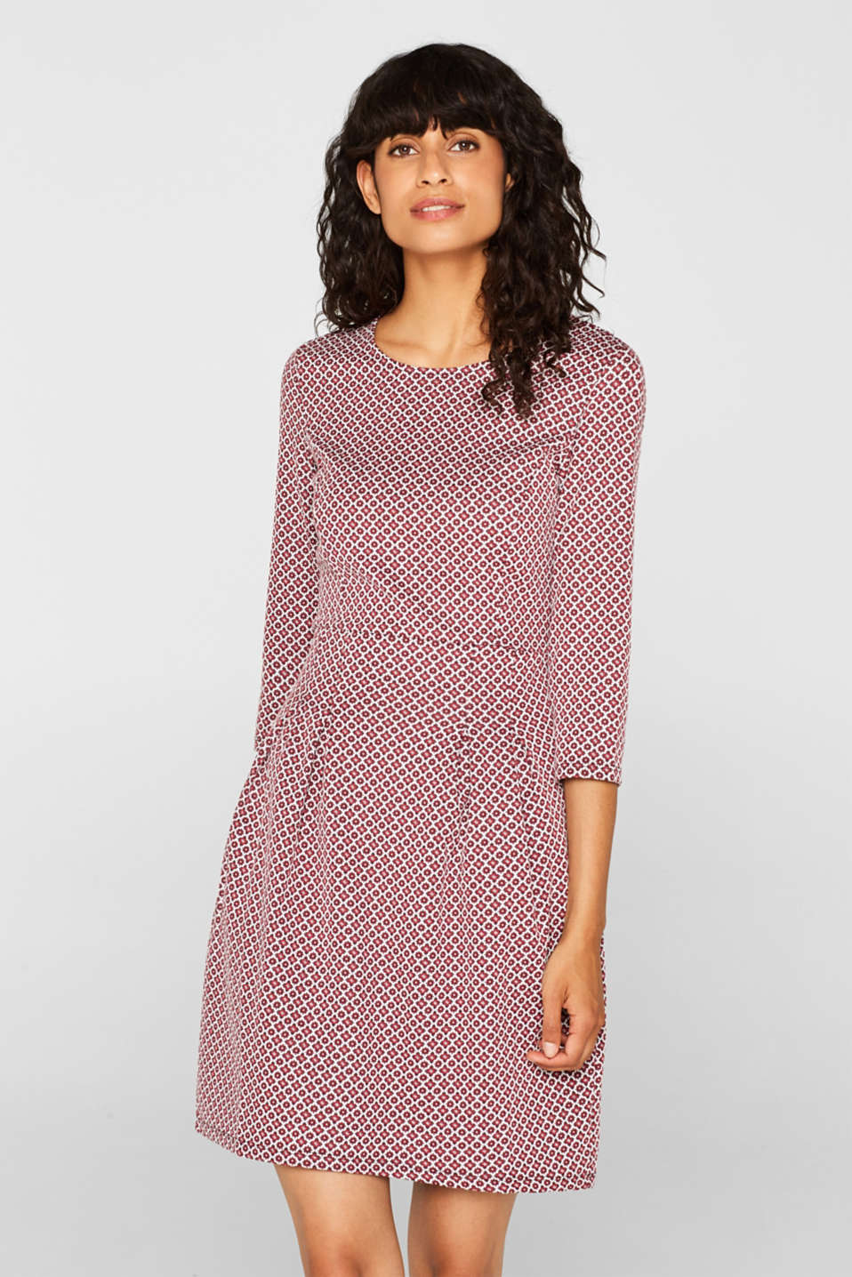 Dresses knitted, GARNET RED, detail image number 0