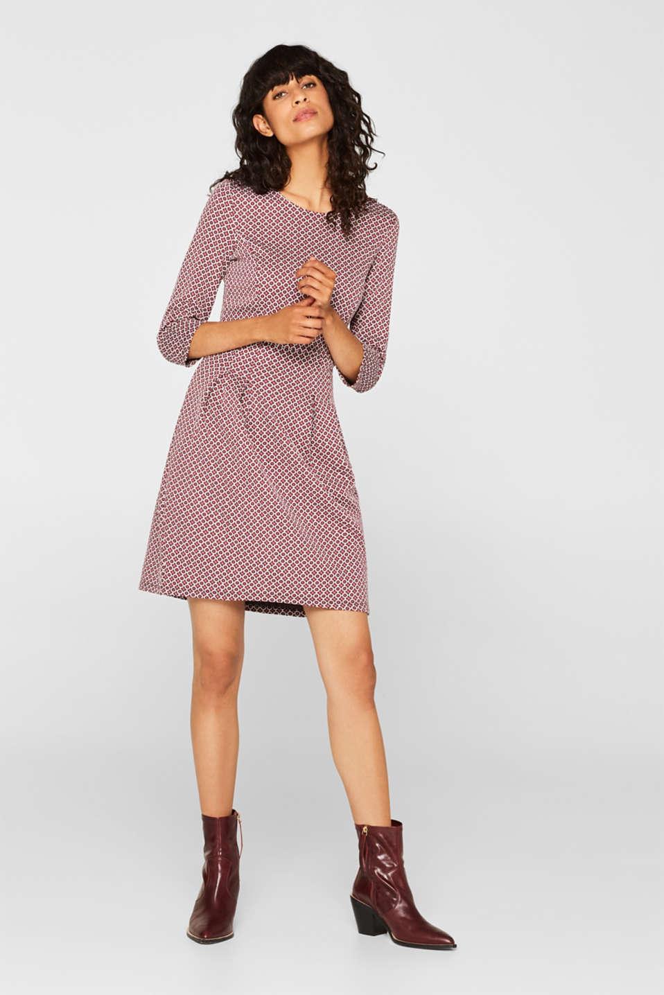 Dresses knitted, GARNET RED, detail image number 1
