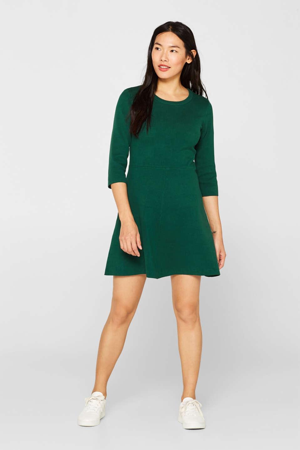 Dresses flat knitted, BOTTLE GREEN, detail image number 1