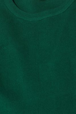 Compact knit dress in an A-line silhouette, BOTTLE GREEN, detail