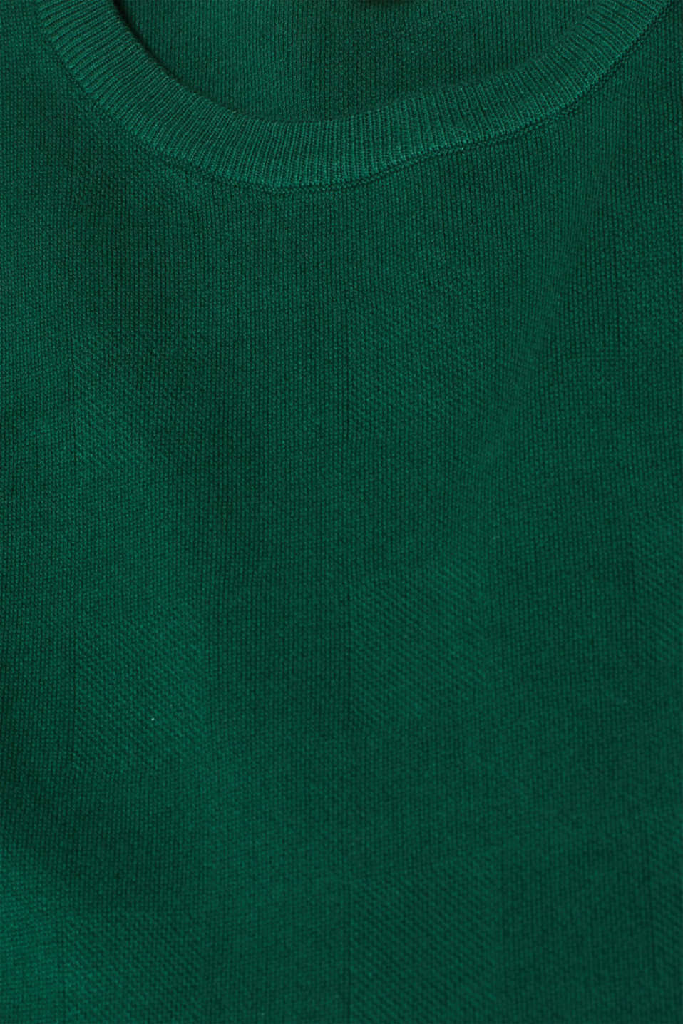 Compact knit dress in an A-line silhouette, BOTTLE GREEN, detail image number 4
