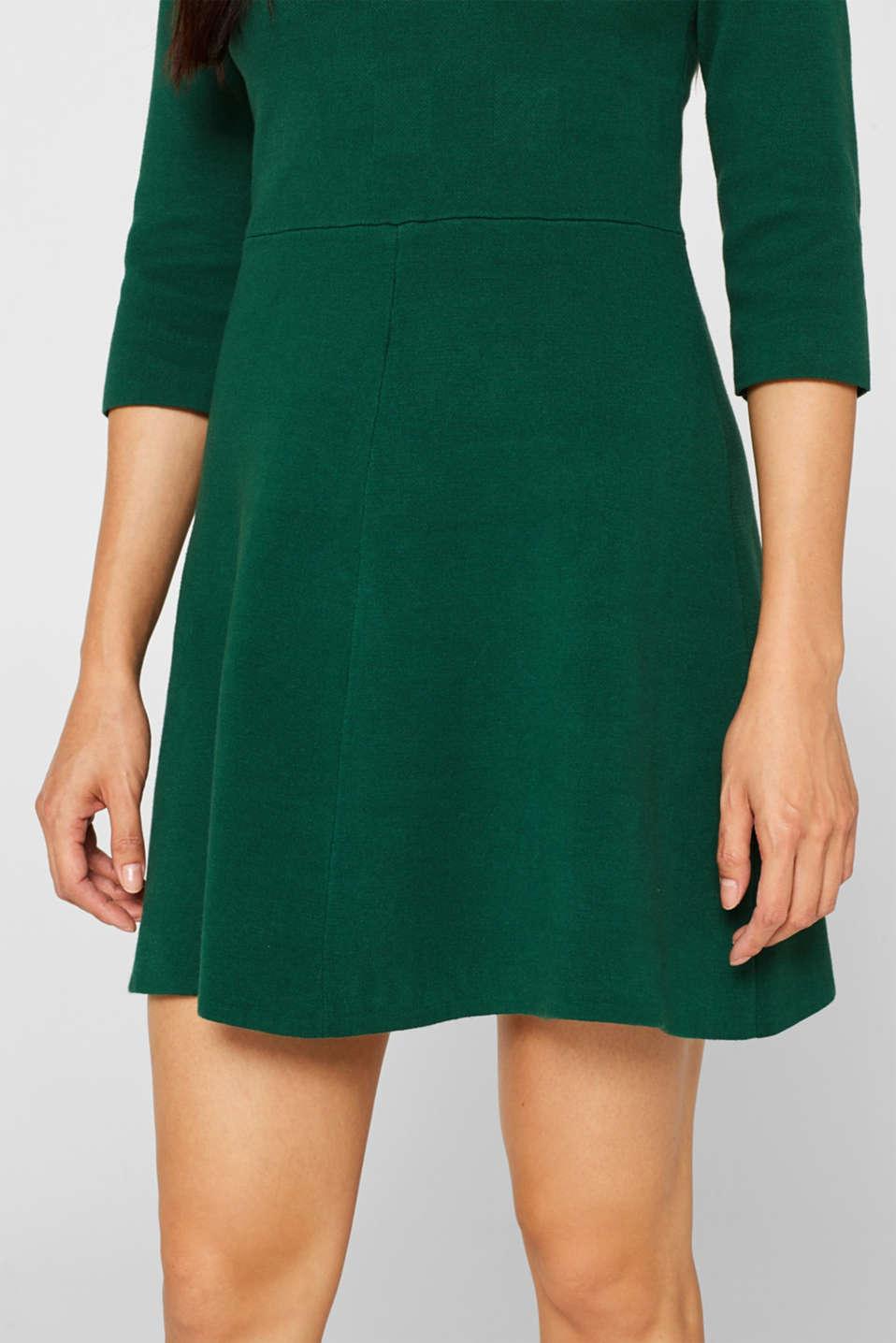 Dresses flat knitted, BOTTLE GREEN, detail image number 5