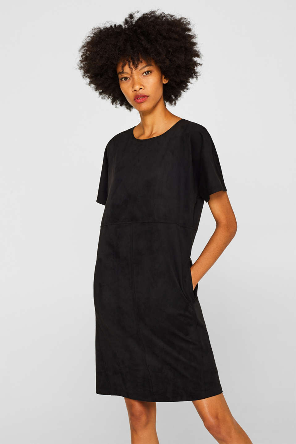 Esprit - Robe aspect daim au confort stretch