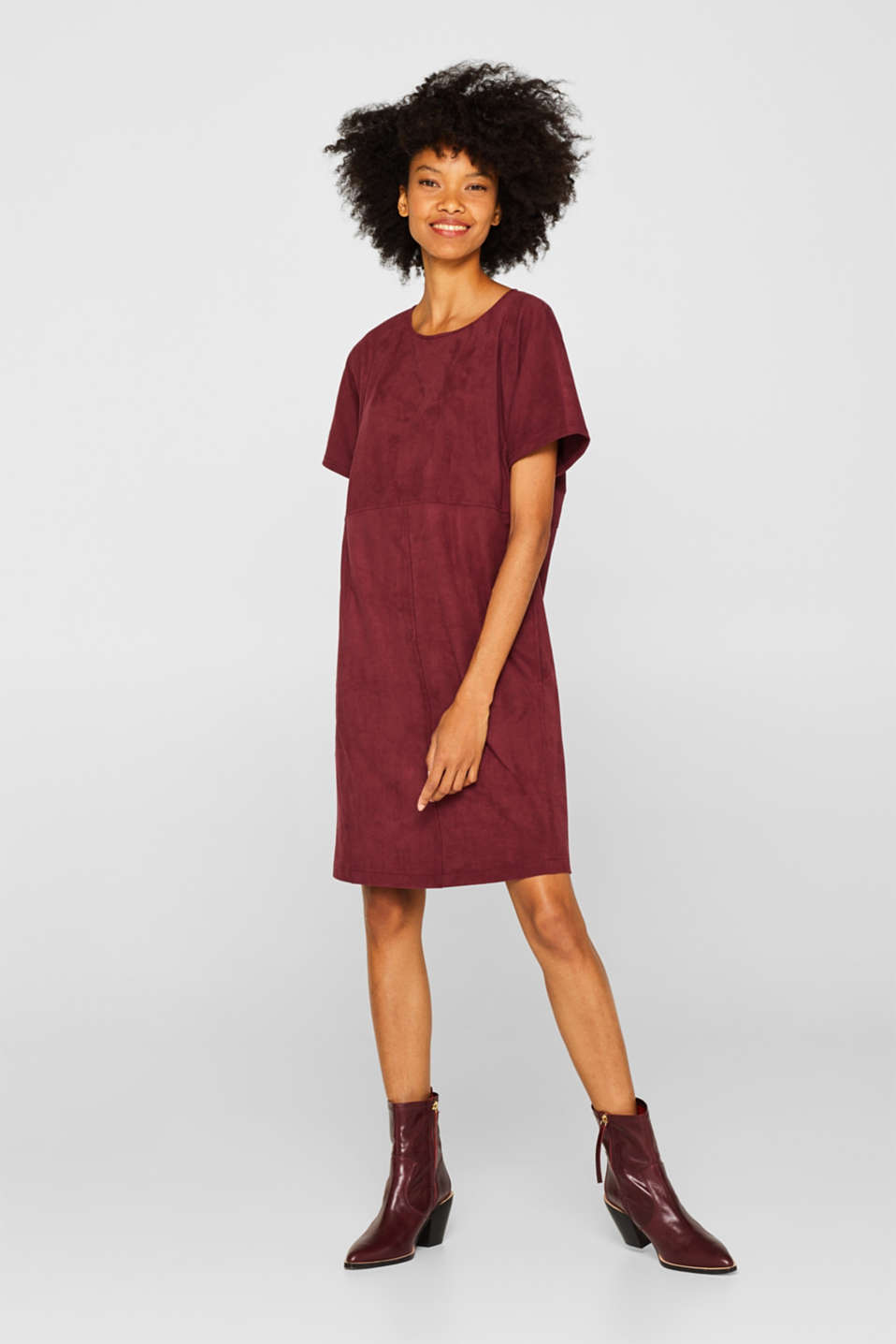 Dresses woven, BORDEAUX RED, detail image number 0