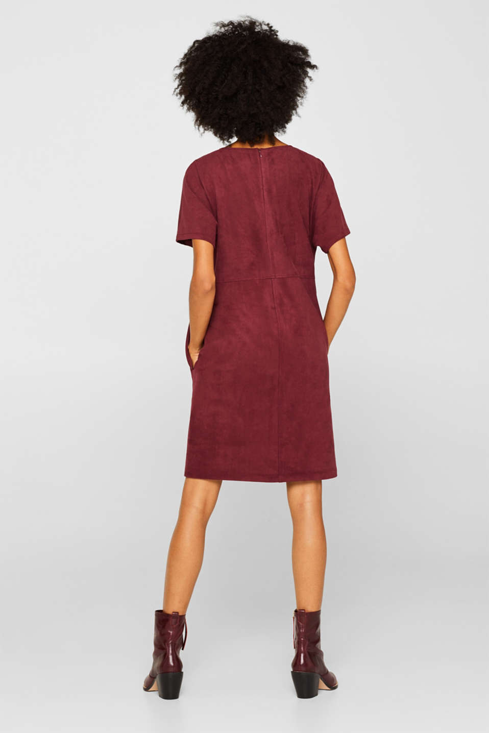 Dresses woven, BORDEAUX RED, detail image number 3