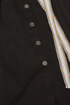 Made of TENCEL™: Shirt blouse dress with a waistband