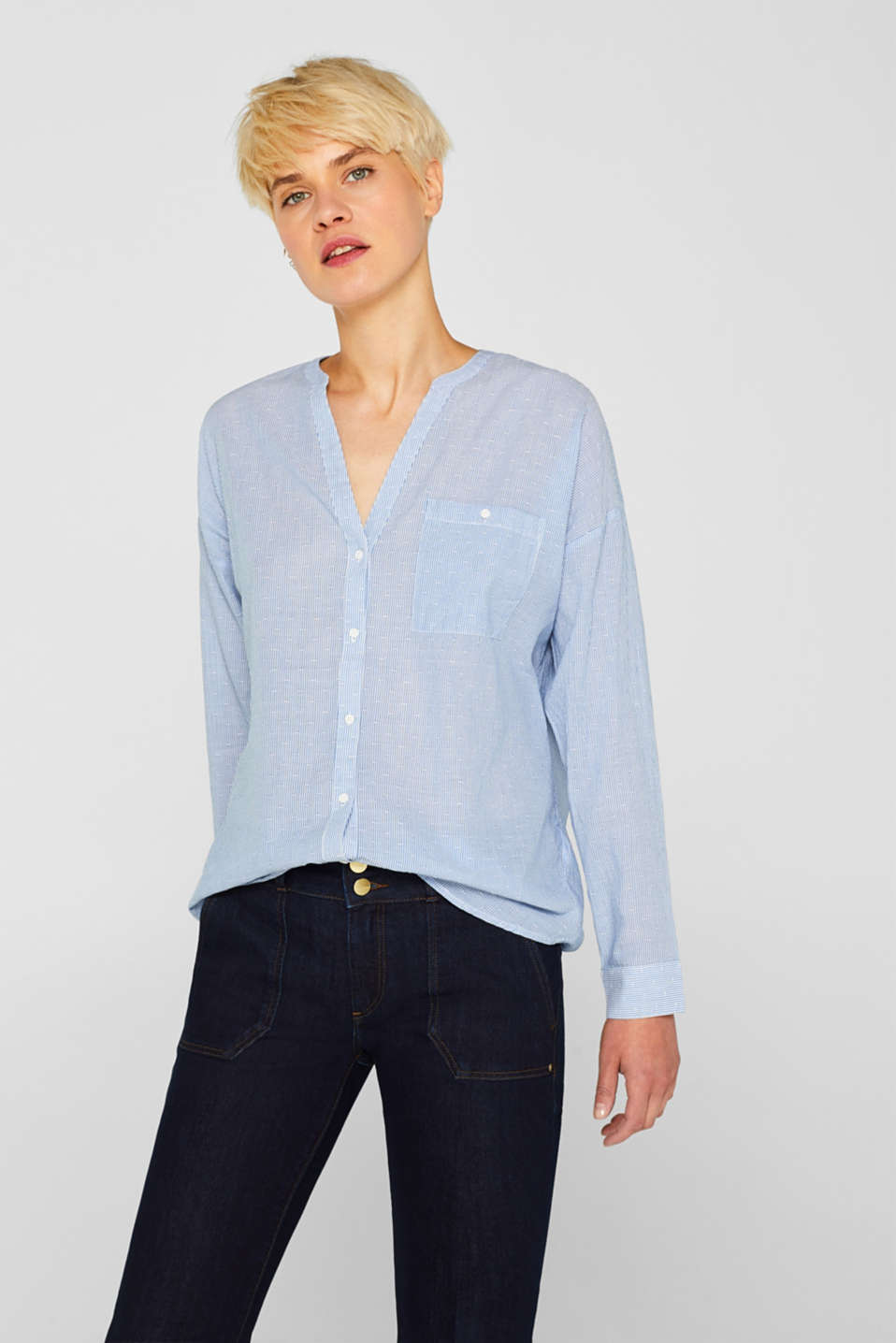 Esprit - Blouse with organic cotton