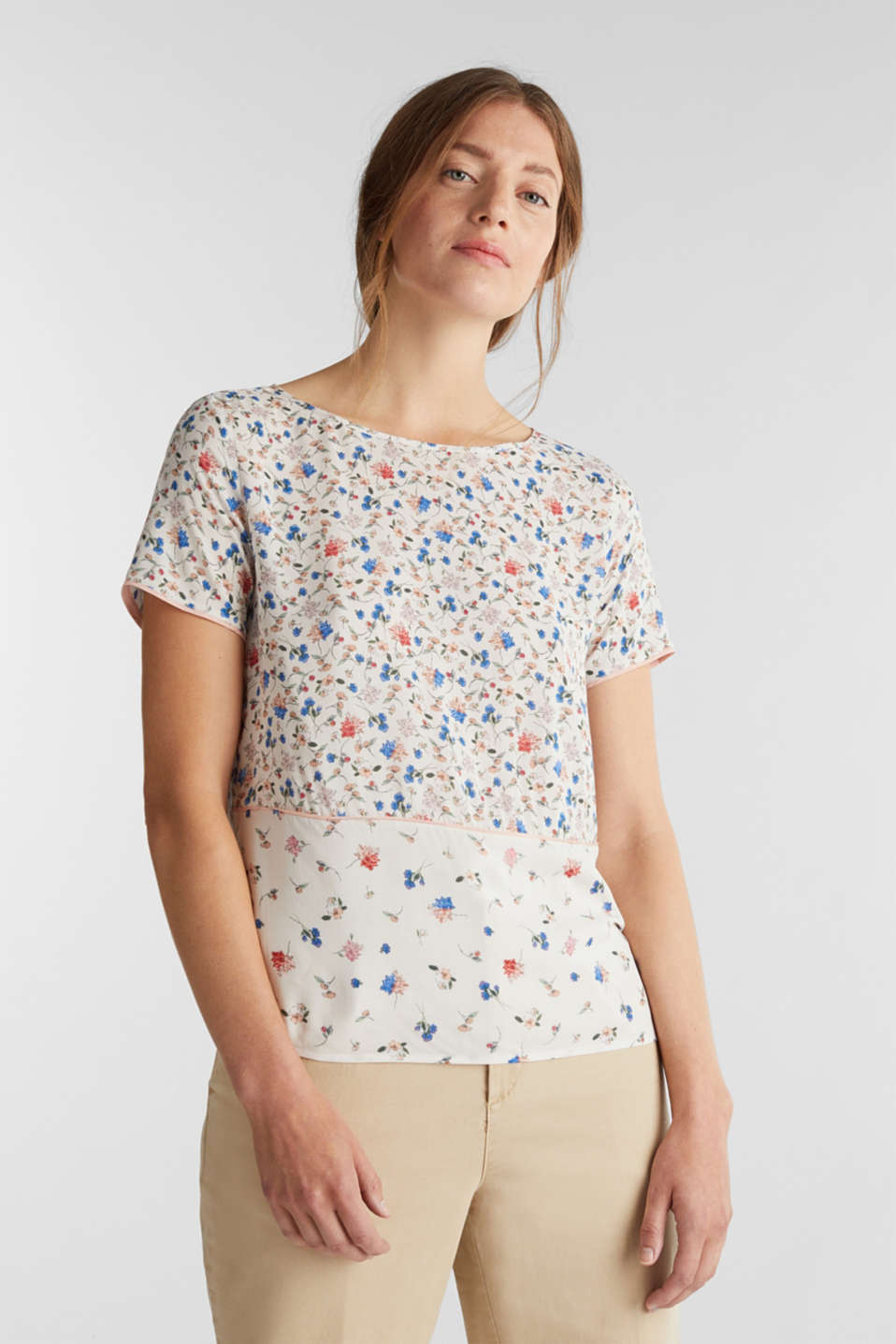 Esprit - Blouse top with a mix of prints