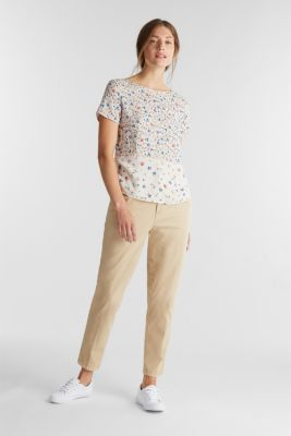 Blouse top with a mix of prints, OFF WHITE, detail