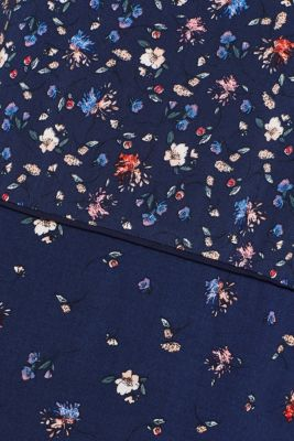 Blouse top with a mix of prints, NAVY, detail