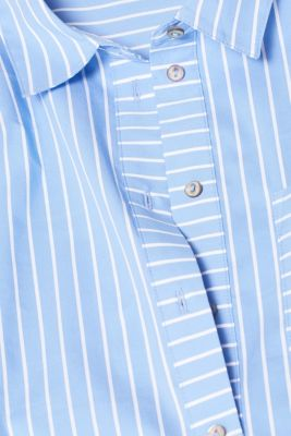 Striped blouse with contrasting trims, LIGHT BLUE, detail