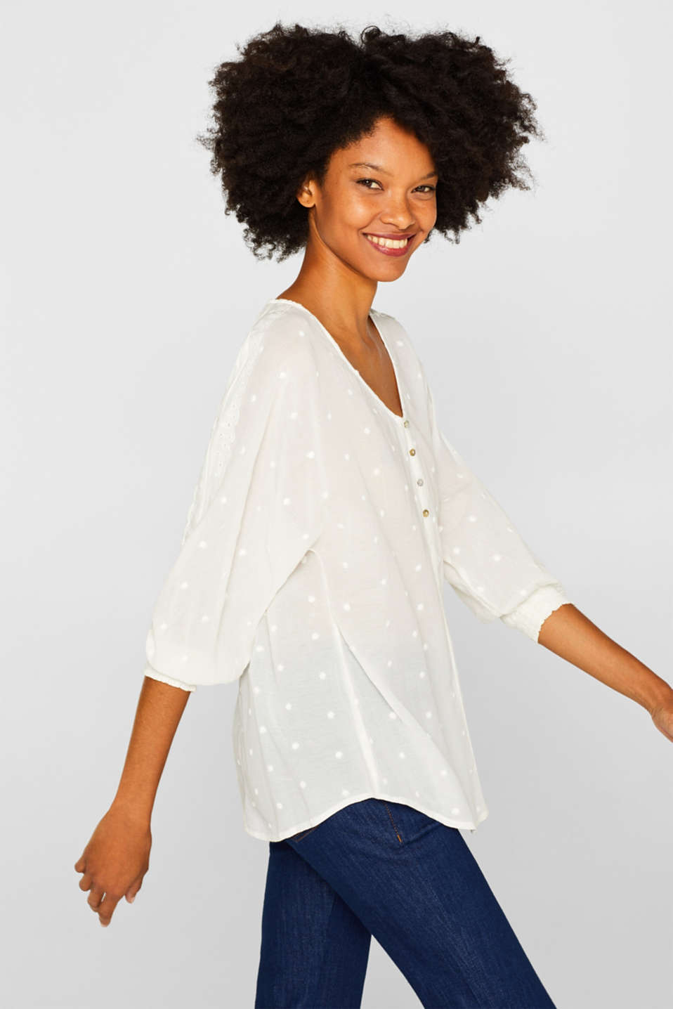 Blouses woven, OFF WHITE, detail image number 0