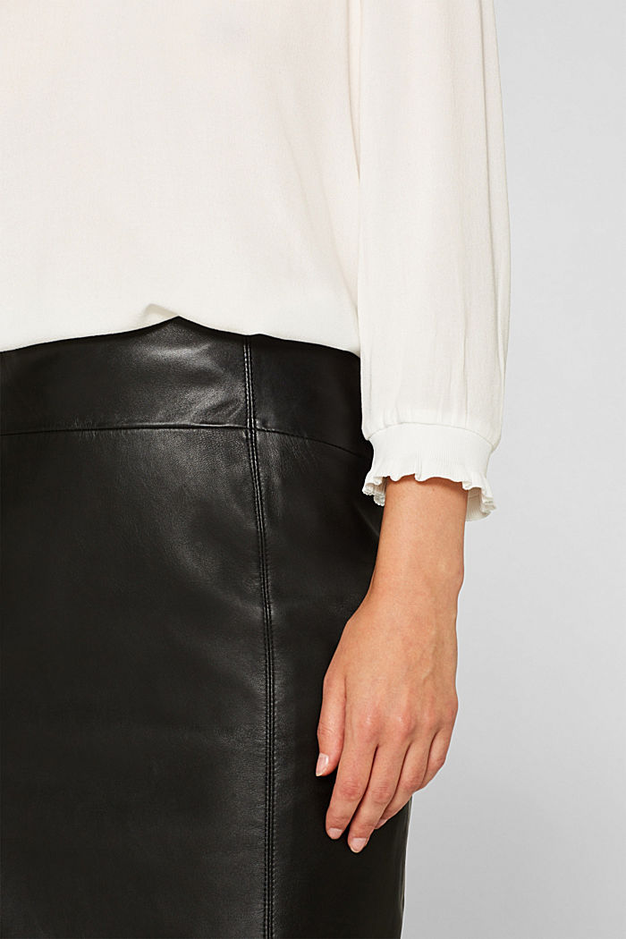 Blouse with ribbed cuffs, OFF WHITE, detail image number 2