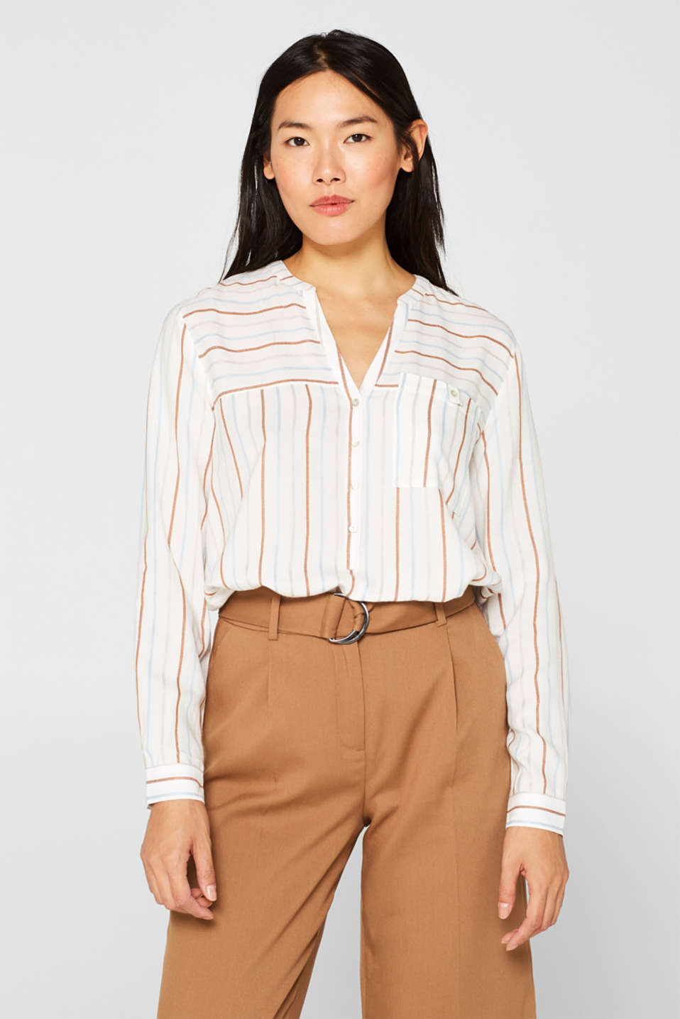 Esprit - Striped Henley blouse