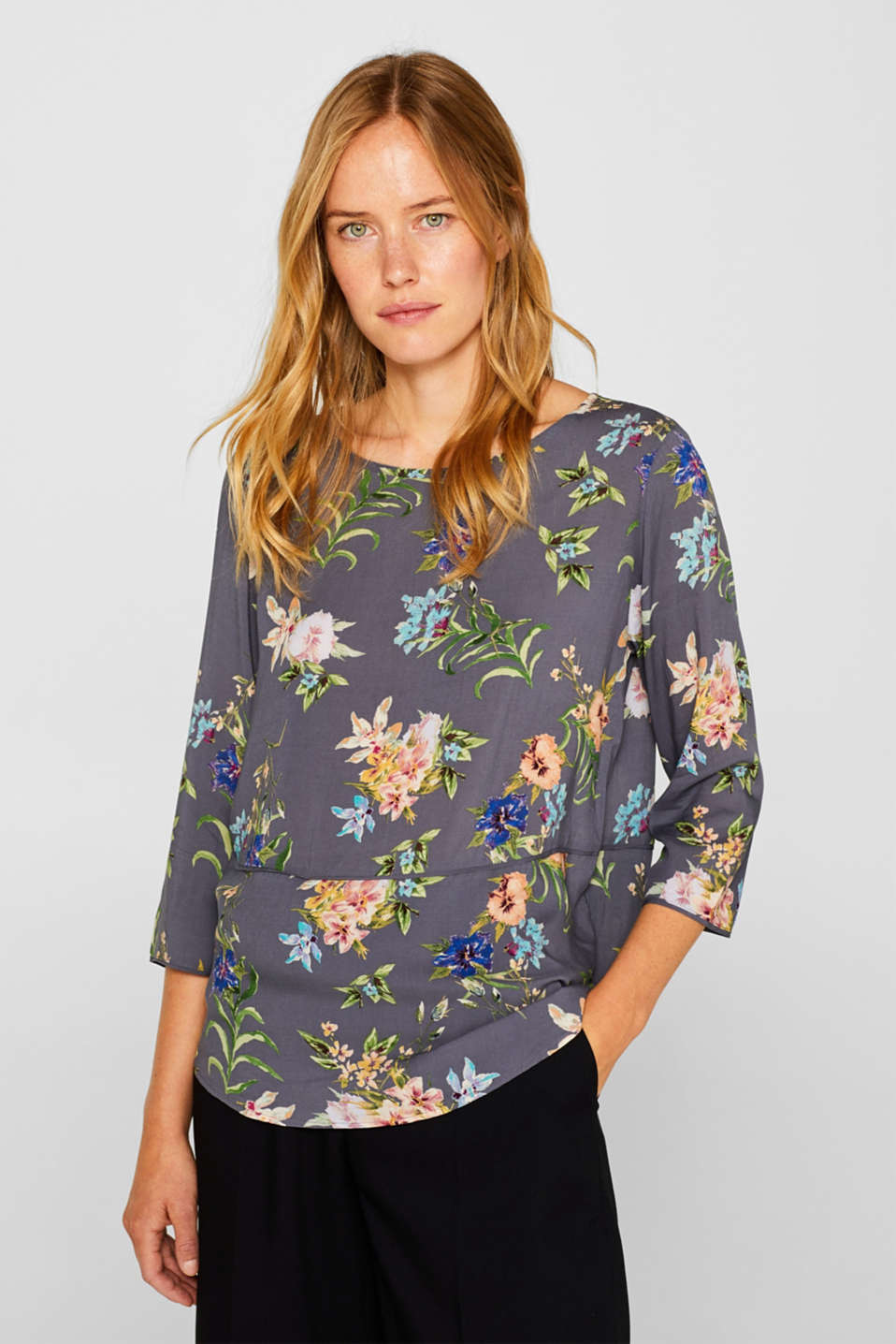 Esprit - Casual bluse med print