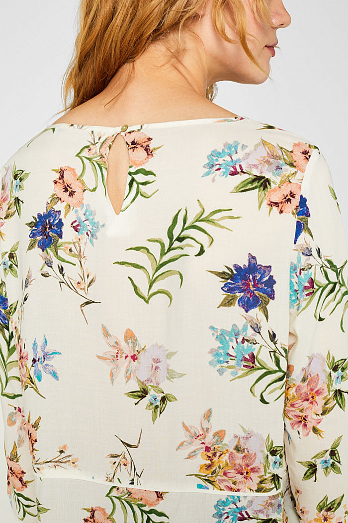 Casual print blouse, OFF WHITE, detail image number 2
