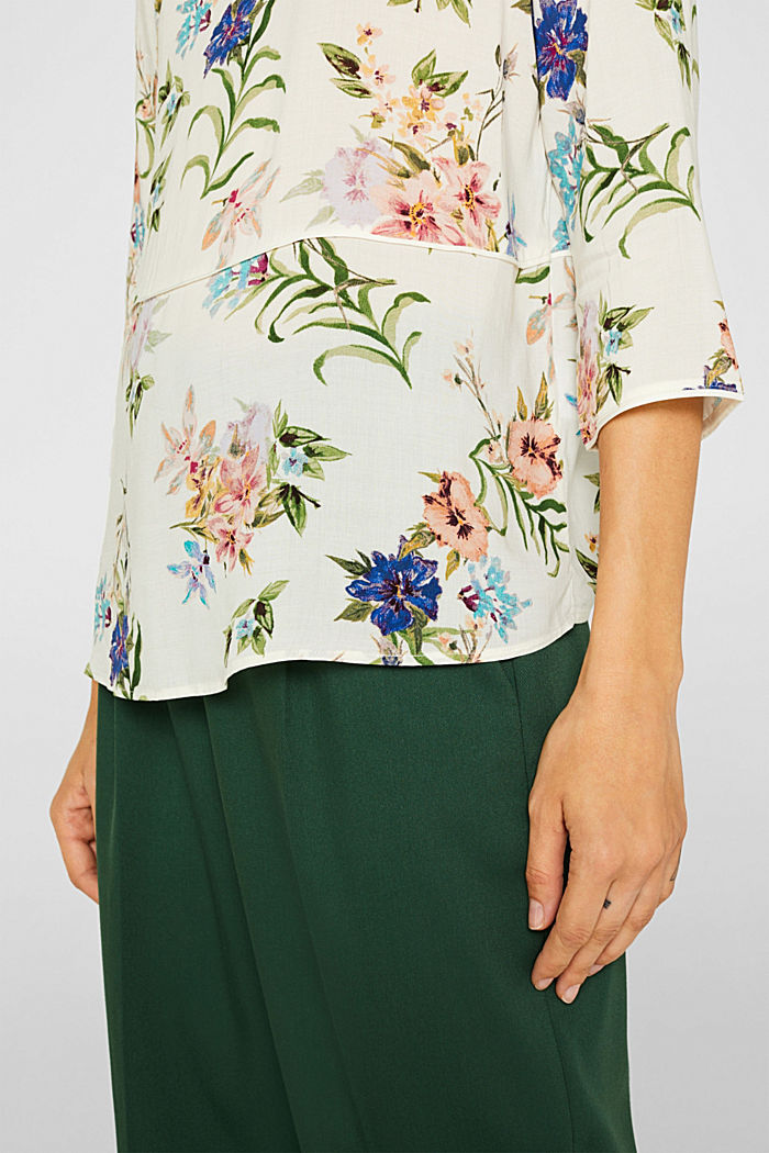 Casual print blouse, OFF WHITE, detail image number 5