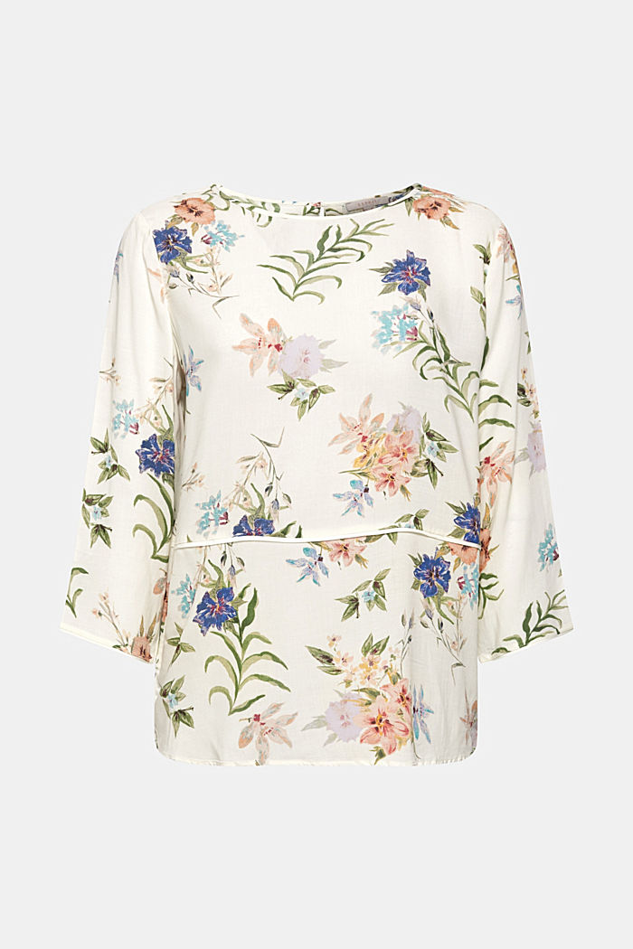 Casual print blouse, OFF WHITE, detail image number 8