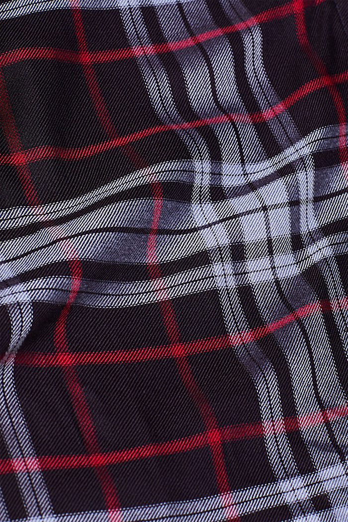Shirt blouse in a checked pattern, NAVY, detail image number 4