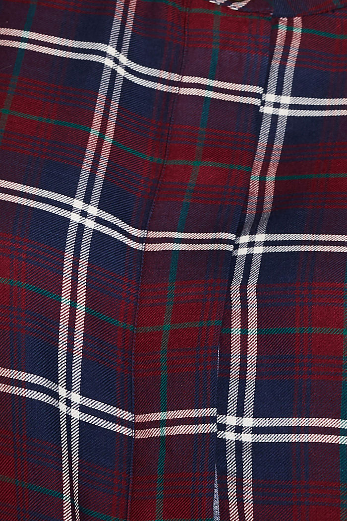 Shirt blouse in a checked pattern, GARNET RED, detail image number 4