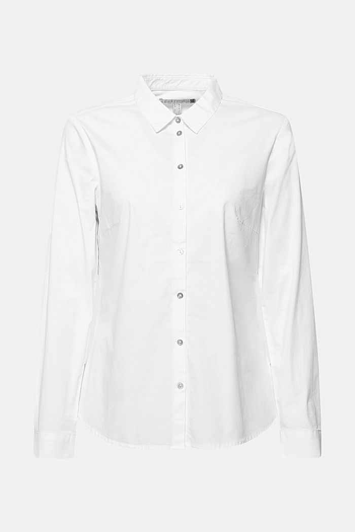 Stretch blouse with organic cotton, WHITE, detail image number 5