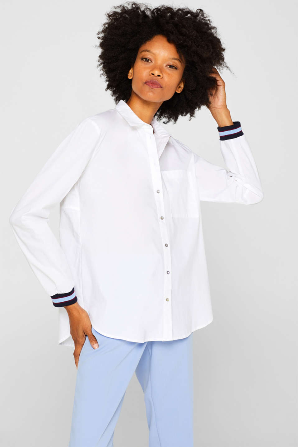 Esprit - Blouse with contrasting trims