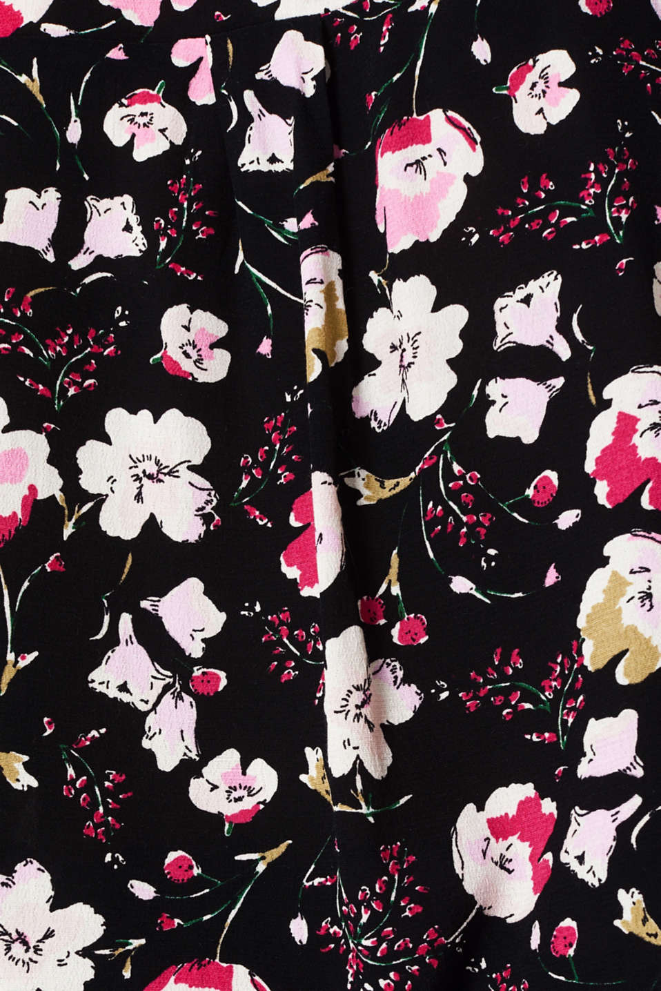 Crêpe pussycat bow blouse, BLACK, detail image number 4