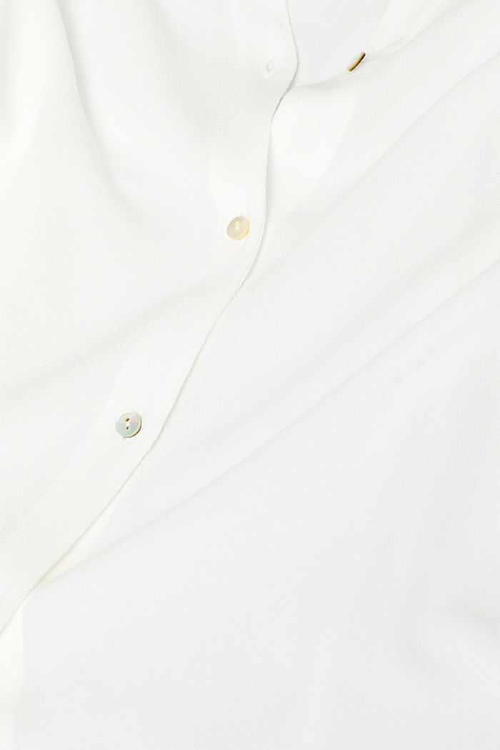 Crêpe blouse with batwing sleeves, OFF WHITE, detail image number 4