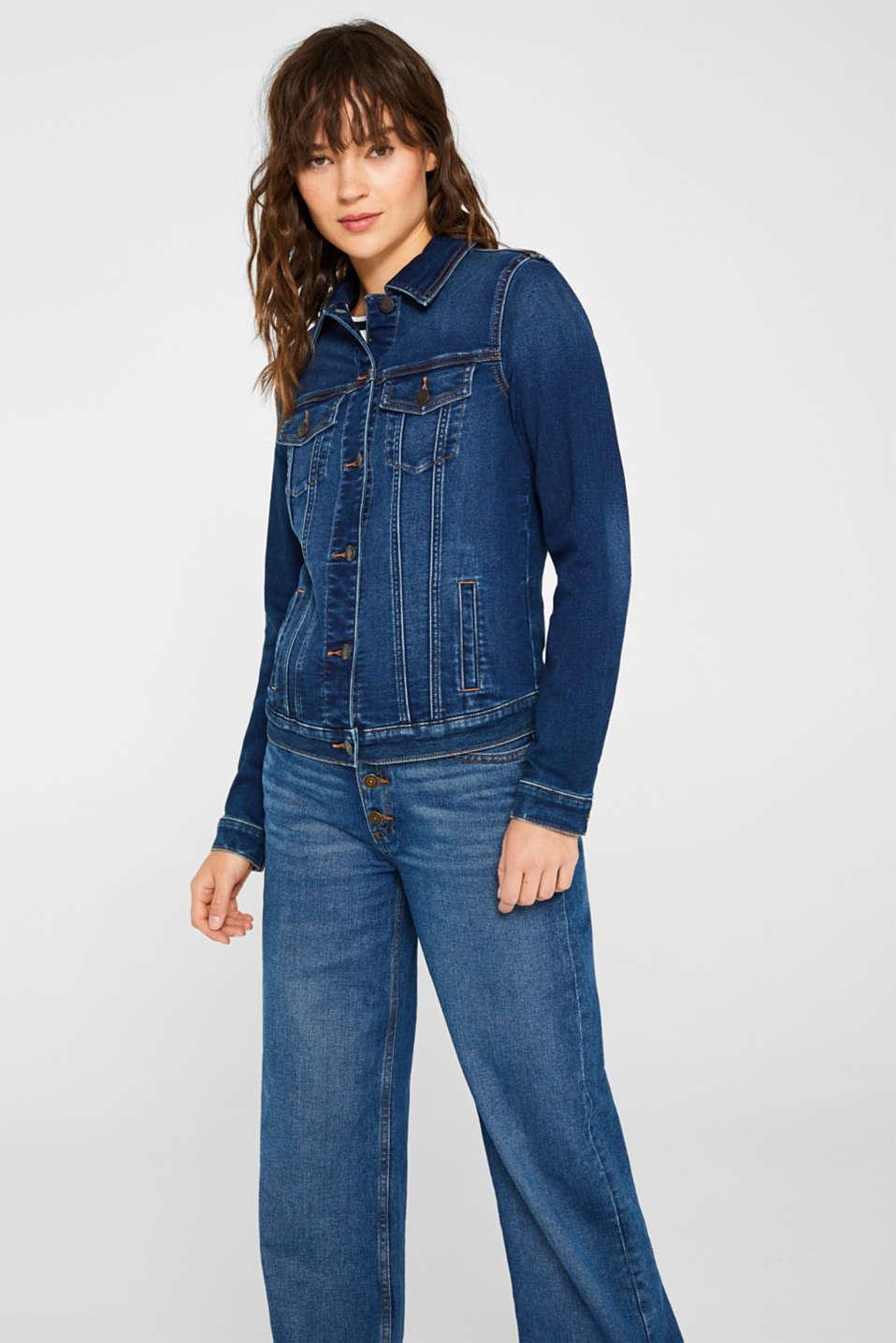 Jackets indoor denim, BLUE DARK WASH, detail image number 7