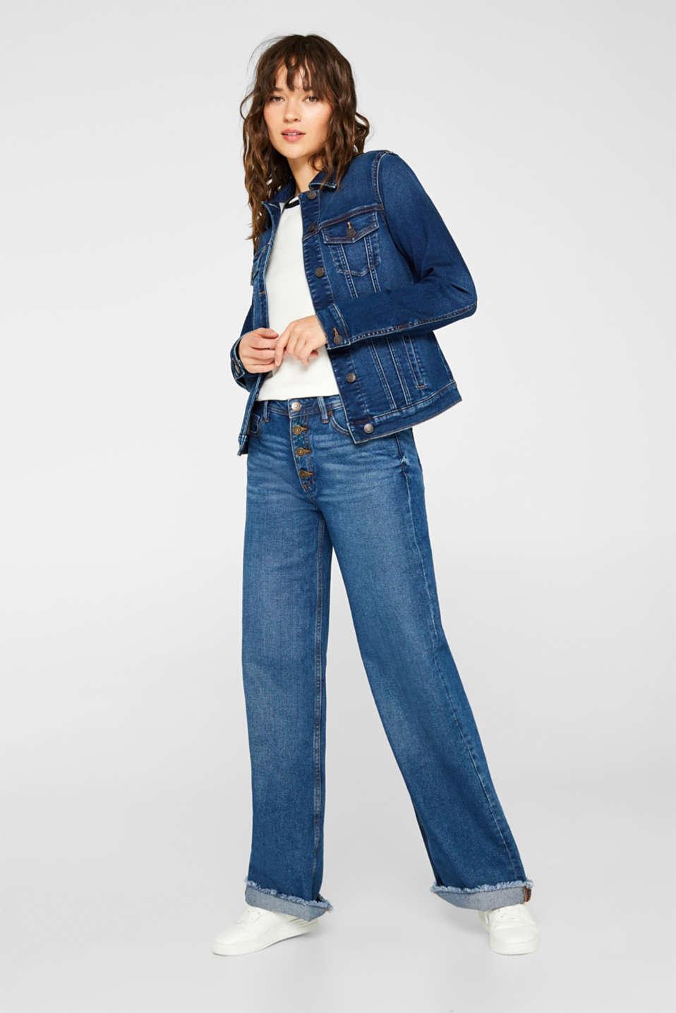 Jackets indoor denim, BLUE DARK WASH, detail image number 1