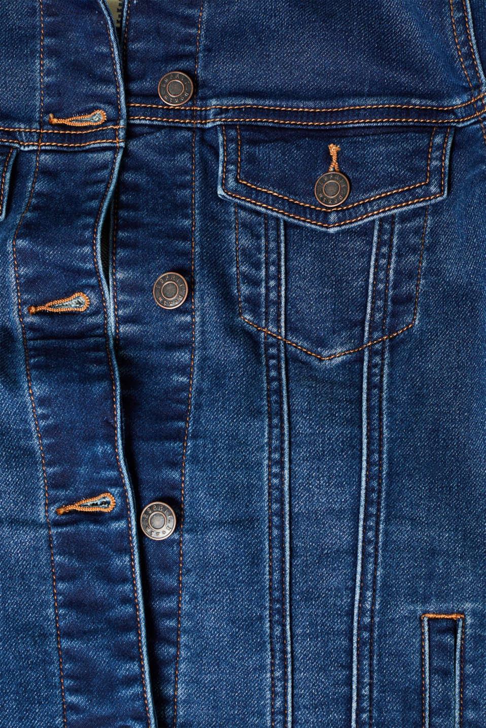 Jackets indoor denim, BLUE DARK WASH, detail image number 4