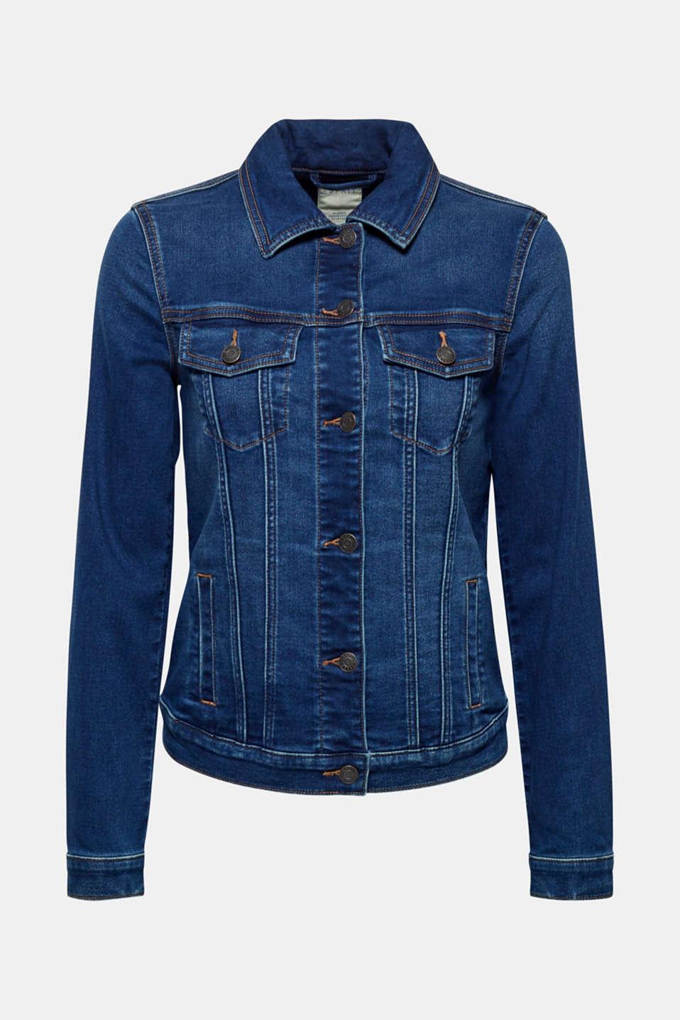 Jackets indoor denim, BLUE DARK WASH, detail image number 9