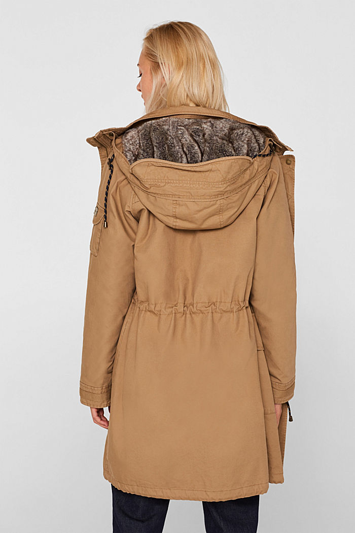 2-in-1 parka with an integrated faux fur jacket, BARK, detail image number 3