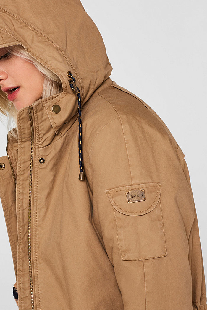 2-in-1 parka with an integrated faux fur jacket, BARK, detail image number 2
