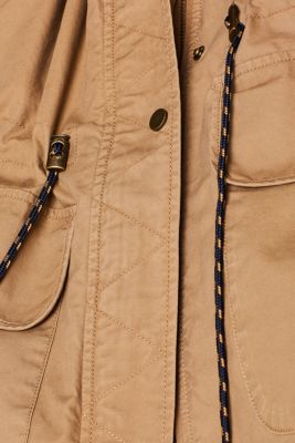 2-in-1 parka with an integrated faux fur jacket, BARK, detail