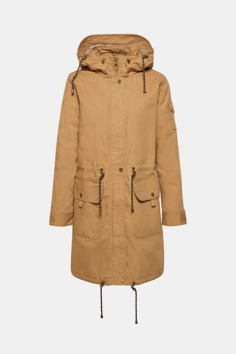 2-in-1 parka with an integrated faux fur jacket
