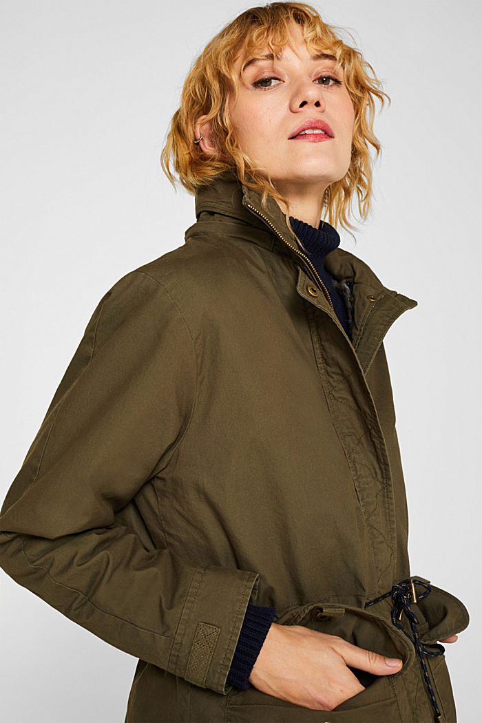 2-in-1 parka with an integrated faux fur jacket, KHAKI GREEN, detail image number 7