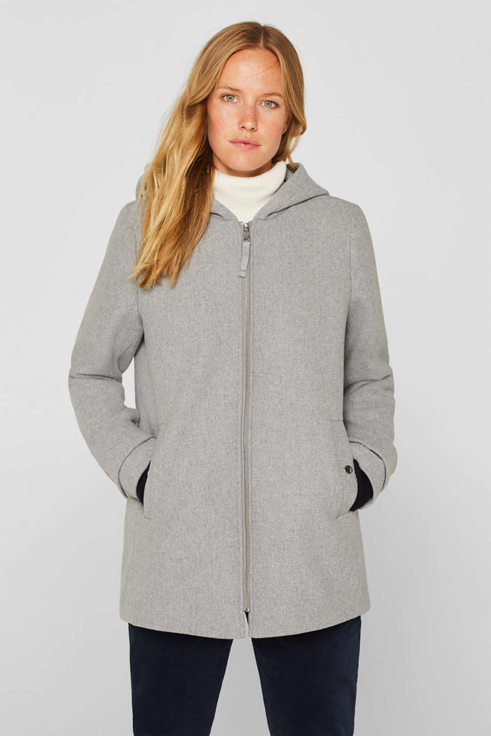 Jackets outdoor woven, LIGHT GREY 5, detail image number 0