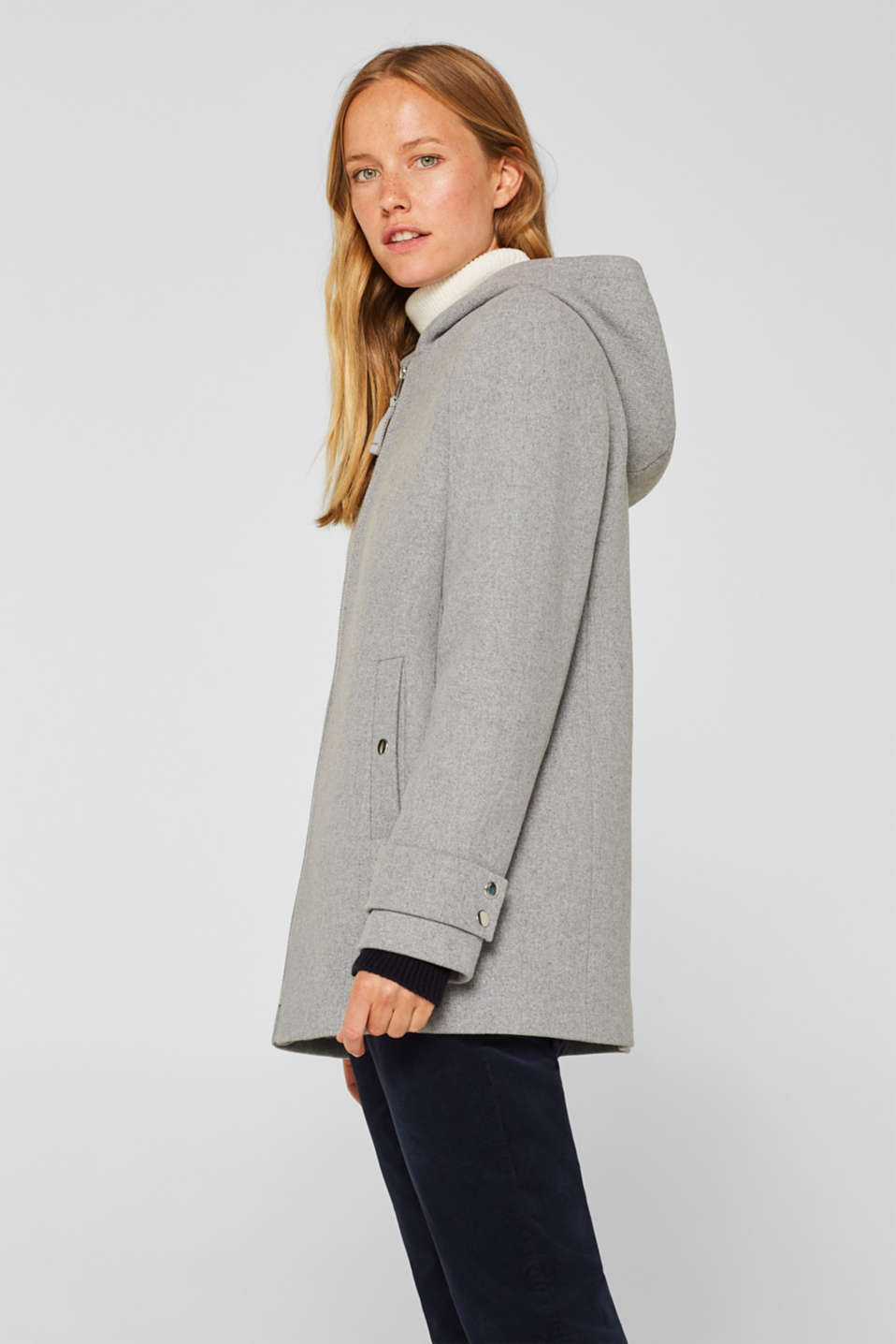 Jackets outdoor woven, LIGHT GREY 5, detail image number 6