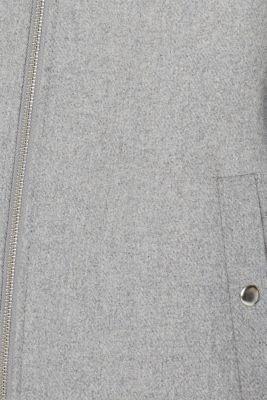 Wool blend: padded zip-up jacket