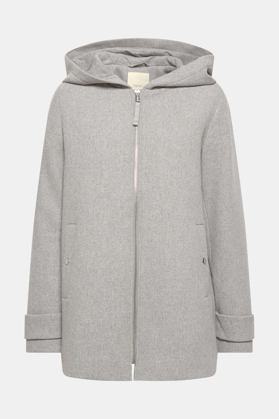 Jackets outdoor woven, LIGHT GREY 5, detail image number 7