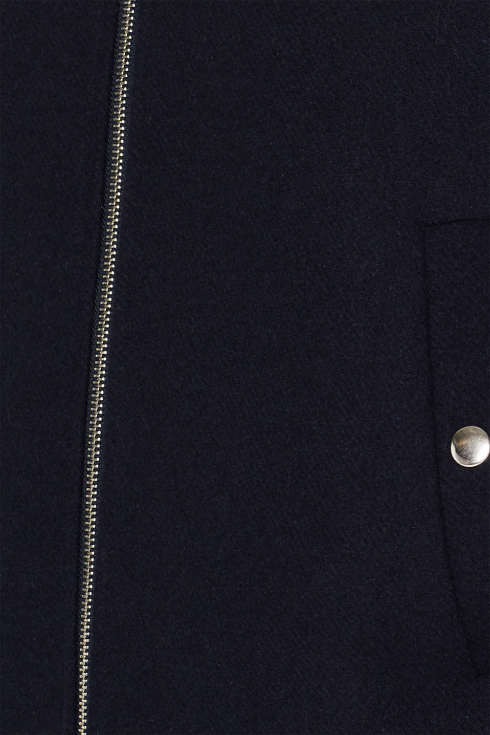Wool blend: padded zip-up jacket, NAVY, detail image number 4